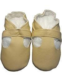 """""""Sandale beige"""" de BBKDOM- Chaussons bébé et enfant en cuir souple de qualité supérieure Fabrication Européenne de 0-5 ans"""