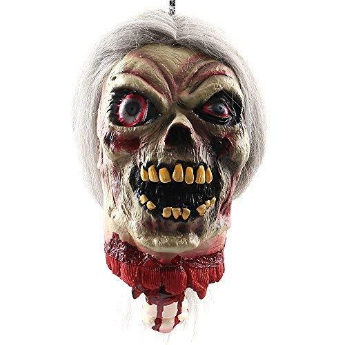New_Soul Halloween Props Colgantes de Cabeza de Hombre con Cabeza de Cruz y Cabezal de Zombie para Casas, Fiestas y Halloween, decoración ST01