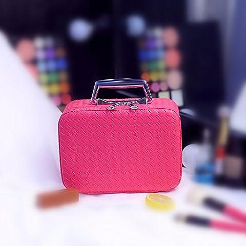 Trousse cosmétique Sac de rangement Grande capacité Sac de maquillage Portable Cosmétique de voyage Trousse de toilette Rose trumpet