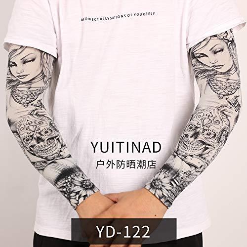 JinRui-Sport Tattoo Sleeve Blume Armmanschette Sonnenschutzhülle, die Schönheit von L, YD-122 Göttin 2 Packungen