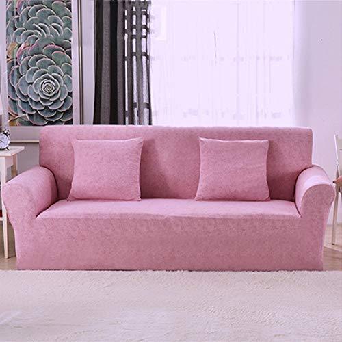 TSSCY Copridivani Coprisedili Anti-Scivolo Copridivano Fodera per Divano Sofa Throws Protezione della Sedia Mobili Poltrona Poliestere-Rosa Chiaro 4 Posti