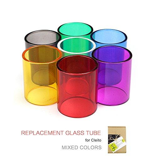(7-Pack) Topuro Cleito Tank Glas Ersatz schwarz transparent gelb rot grün blau lila