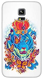Timpax Protective Hard Back Case Cover Full access to all features. ports of the device including microphone, speaker, camera and all buttons. Printed Design : A lion and butterflies.Exactly Design For : Samsung Galaxy S5 mini ( SM 800G )
