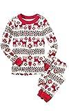 ECOWISH Weihnachten Schlafanzug Familien Outfit Mutter Vater Kind Baby Pajama Langarm Nachtwäsche Print Sleepwear Top Hose Set 123 Kind 12/13T