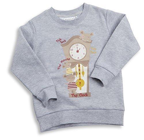 Stile MIXX di Natale Top Unisex per neonati filastrocche Felpa Top regalo di natale HICKORY DICKORY 12 - 18 mesi