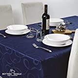 Tovaglia Antimacchia in tessuto Jacquard Emily, 140x240 colore blu, varie misure e colori disponibili.
