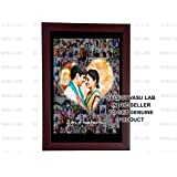Generic VCLWDP_124 Wood Photo Frame (12x8-inches, Multicolour)