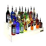 Bottigliera gradini luminosa piccola - 50 cm (15 bottiglie) Bottle display
