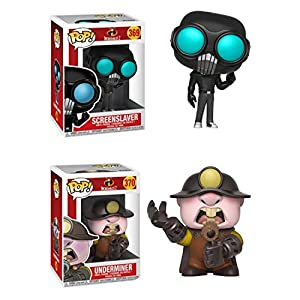 FunkoPOP Incredibles 2 ScreenSlaver Underminer Disney Pixar Stylized Vinyl 2 Figure Bundle Set NEW