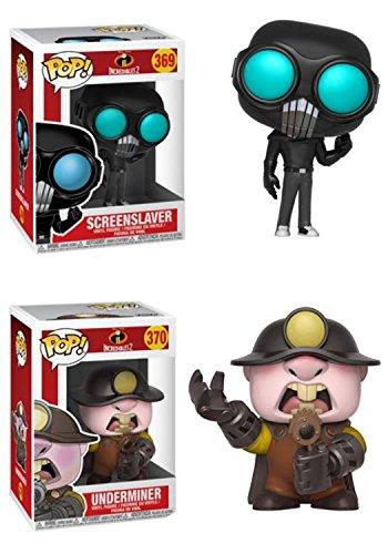 FunkoPOP Incredibles 2 ScreenSlaver Underminer Disney Pixar Stylized Vinyl 2 Figure Bundle Set NEW
