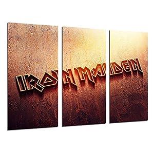 Wandbild – Iron Maiden, Rock, Musik, 97 x 62 cm, Holzdruck – XXL Format – Kunstdruck, ref.26269