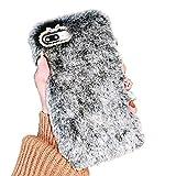 Misstars Fourrure Coque pour iPhone 7 Plus / 8 Plus (5,5'), Mignon Doux Hiver Chaud...