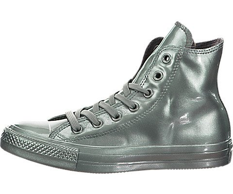 Converse Damen All Star Hi Hohe Sneaker, Silber, 36,5 EU (Star Silber Damen All Converse)