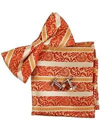 EBC1F02 populares modelada seda atado Pre-Pajarita Gemelos Hanky ??Establecer Por Epoint