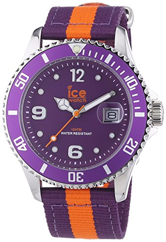 Ice-Watch Ice Po. PoE. U.N.14 – Polo – Unisex Watch – Analog Quartz – Purple Nylon Strap Purple Dial