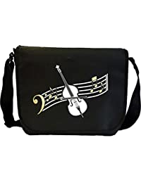 Double Bass Curved Stave - Sheet Music Document Bag Musik Notentasche MusicaliTee