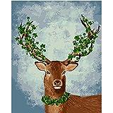 Amphia -  DIY Digitale Malerei.DIY Ölgemälde Malen Nach Zahlen Kit 16 * 20 Zoll Home Wandkunst Bild Weihnachten