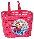 alles-meine.de GmbH Fahrradkorb / Korb -  Disney Frozen - die Eiskönigin  - mit Befestigung für Lenker vorn - Fahrrad Kinder - Mädchen / pink - universal auch für Roller und Dr..
