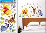 Winnie the Pooh Childrens Bedroom Nursery Wall Stickers by A1 Stickers Direct