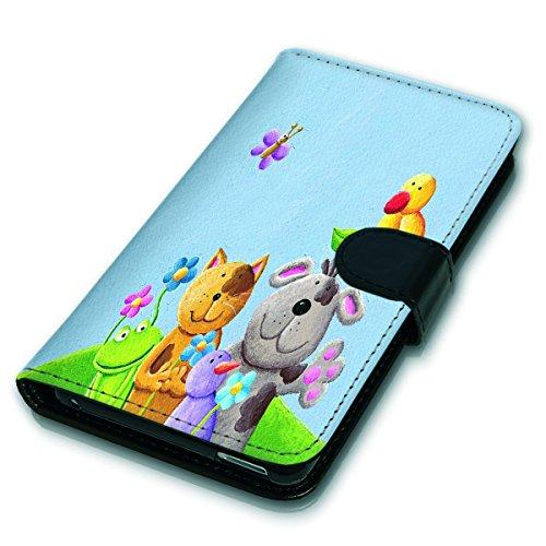 Wallet Book Style Flip Handy Tasche Case Schutz Hülle Schale Motiv Etui für Apple iPhone 6 / 6S - Variante UMV19 Design12 Design 1