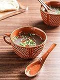 #7: Unravel India ceramic saffron soup set(Set of 6)