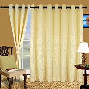 Cortina Stereo IvoryPolyester Fabric Window Curtain