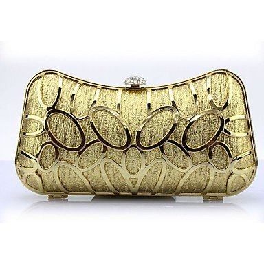 SUNNY KEY-Pochette e Clutch@Metallo A scatto Oro Argento , silver gold