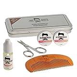 Mo Bro's Grooming Kit- Gift Tin, Moustache Wax, Beard Balm, Oil, Comb, Scissors (Winter Spice) by Mo Bro's Grooming Co.