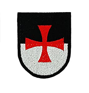Patch ecusson brodé drapeau backpack blason templier croisade airsoft