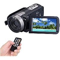 COMI Caméscope Full HD 1920x1080p 24,0 Mégapixels Appareil Photo 3,0 inch LCD 16x Zoom numérique 270 degré Écran Rotatif à Distance