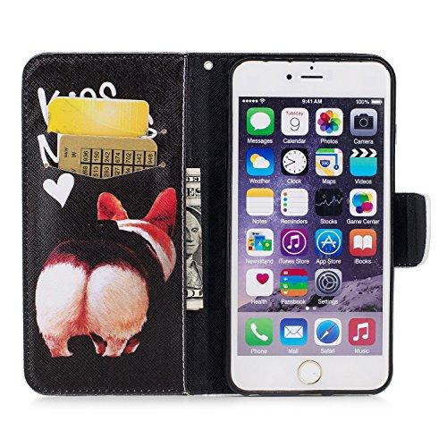 iPhone 6 / 6S Plus (5.5 pouce) Coque , PU Cuir Étui Protection Wallet Housse la Haute Qualité Pochette Anti-rayures Couverture Bumper Magnétique Antichoc Case Anfire Cover pour iPhone 6 Plus - Panda Kiss My Ass
