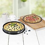 GOURMETmaxx Backofengitter | Grillgitter, Grillblech, Grillrost, Backform, Pizzablech für fettarmes Heißluft-Garen im Ofen (Backform)