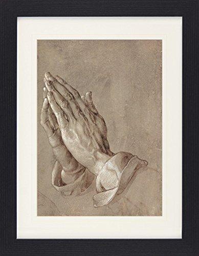 1art1 113941 Albrecht Dürer - Betende Hände, 1508 Gerahmtes Poster Für Fans Und Sammler 40 x 30 cm