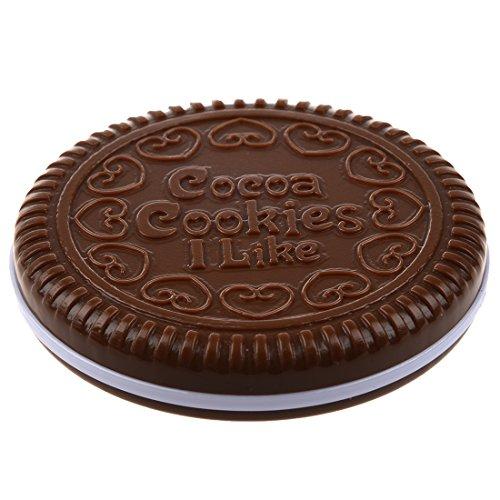 TOOGOO(R) Miroir de Poche En Forme De Biscuits Chocolat
