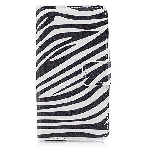 Schutzhülle für iPhone (Brieftaschen-Design, hochwertiges transparentes Design, PU-Leder TPU, stoßfest, Kartenfächer, Magnetverschluss, Standfunktion, Klappetui, für iPhone iPhone X color 4