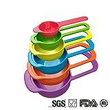 Juegos de cucharas medidoras Plástico medición cuchara cuchara Set 6 tazas Set