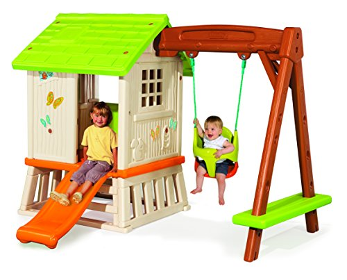 Smoby 810601 Swing Set Playhouse