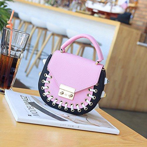 Colpire Il Colore Borsa Del Telefono Mobile Donne Nuovo Selvaggio Carino Borsa A Tracolla Personalità Mini Messenger Borse Pink