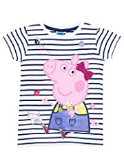 Idea Regalo - Peppa Pig - Maglietta a maniche corte - Peppa Pig - Ragazze - 4 - 5 Anni