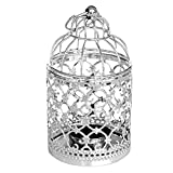Lampadari Cavità del metallo di disegno del fiore Lanterna gabbia di uccello Supporto di candela di figura del tè a lume di candela Cradle casa Room Decor Lampadari (Color : B)