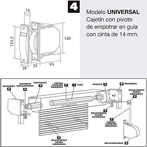 Preisvergleich Produktbild Wurstfüller Gurtwickler,  Rollladen Mini 6 Meter Band 14 mm.