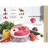 Quick Silver Manual Food Processor Dough Maker, Vegetable Cutter, Churner/Beater With Dual Speed