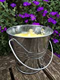 Citronella Candle 07936Citronella Candle Bucket Stainless Steel 10x 10cm Silver