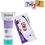 Himalaya Herbals Baby Cream (200g)+Himalaya Herbals Soothing Baby Wipes (24 Sheets) With Happy Baby Luxurious Kids Soap With Toy (100gm)