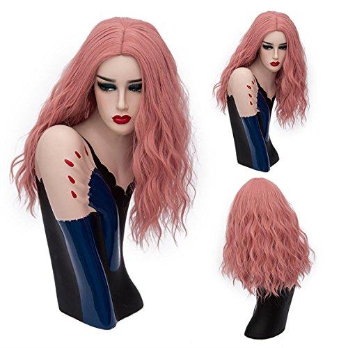 SHKH Frauen schöne mittlere Länge gewellte lockige Haar Perücken Cosplay Halloween Weihnachten Parteien Fancy Dress mehrfarbig optional , 28