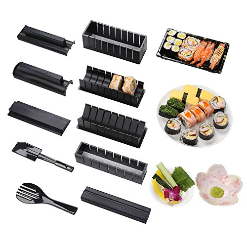 Sushi maker kit 10 piece diy sushi set  sushi corredo del creatore sushi roll maker