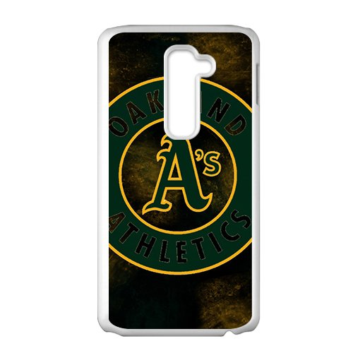 Custom LG G2 Case MLB Sports Logos Oakland Athletics Logo Design Protective Bumper Cover Oakland Athletics Design