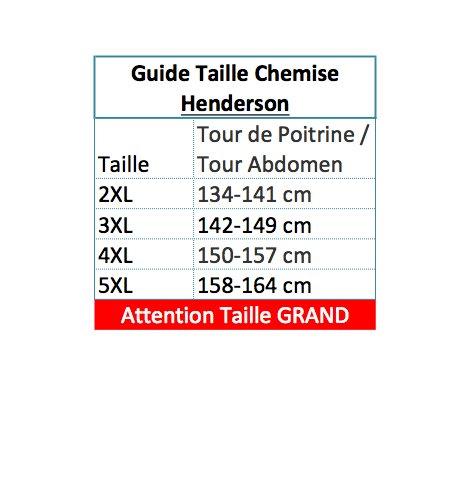 Chemisette Bleu Marine à Carreaux du 2XL au 5XL Henderson Bleu