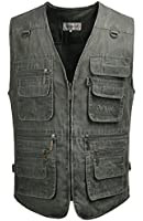 Fiream Mens Plus Size Jeans Jackets Pockets Working Vest Waistcoat Gilets