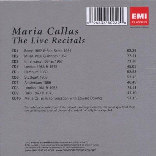 Audio-CD-CALLAS-THE-LIVE-RECORDINGS-CLASSICO-Nuovo-Musica-0094636802220
